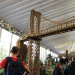 Visitando a el espectacolo de trenes en el Jardin Botanico NY-Visiting the Holiday Train Show at the NY Botanical Garden