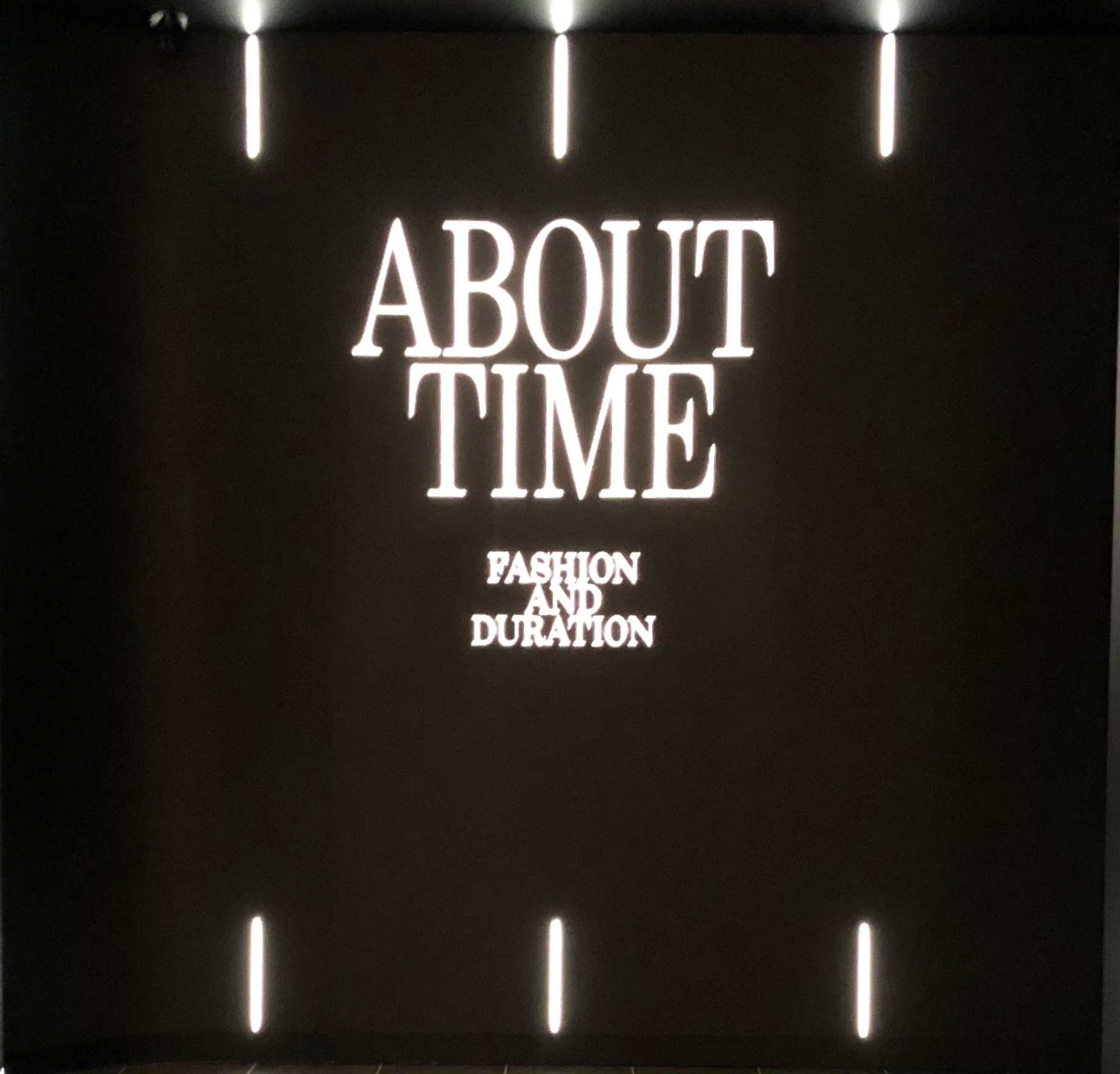 About Time Fashion and Duration