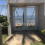 The gate to the beach in puerto rico