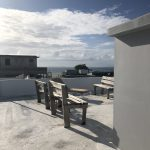 the rooftop of the airbnb