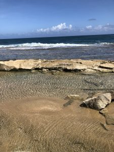 The beach where riders got off in Puerto Rico